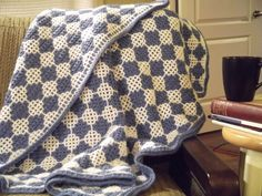 Diamond Baby Blanket pattern available at Interlocking Crochet website containing free patterns, free videos and blogs dealing with Interlocking Crochet™.