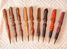 Wood pen shapes