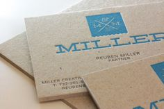 If I ever have a need for my own business cards, I would want something like this. Miller Creative Business Cards