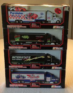(4) 1:64 NASCAR Die-Cast Racing Team Transporters, Racing Champions 1991/92 #RacingChampions