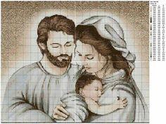 La sacra famiglia Cross Stitching, Cross Stitch Embroidery, Embroidery Patterns, Cross Stitch Designs, Cross Stitch Patterns, Plastic Canvas, I Love You Mother, Cross Stitch Angels, Religious Cross