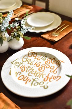 Bring a festive touch to your Thanksgiving tablescape with the classic God is Great Platter. A timeless way to serve your Thanksgiving entrées. Coton Colors, Thanksgiving Tablescapes, Serveware, Platter, Earthy, Contemporary Design, Festive, Touch, Ceramics
