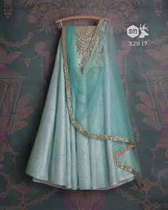 A-Line Wedding Dresses Collections Overview 36 Gorgeou… Half Saree Lehenga, Blue Lehenga, Lehnga Dress, Sari, Sky Blue Saree, Floral Lehenga, Bridal Anarkali Suits, Indian Bridal Lehenga, Party Wear Lehenga