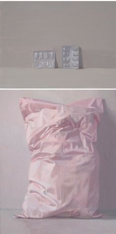 "Alex Hanna: (top) ""Pill Packaging x x (bottom) ""Sweet Dreams"" x x Painting Inspiration, Art Inspo, A Level Art, Painting Still Life, Ap Art, Conceptual Art, Contemporary Paintings, Artist Art, Alex Hanna"