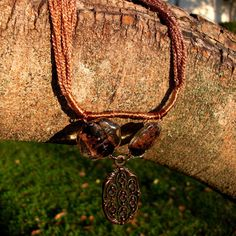 Copper Pendant necklace Earth African necklace Golden by Nimmet