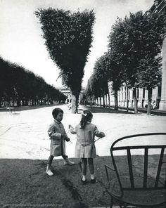 mimbeau:  Palais Royal Gardens Paris 1960s Patrice Molinard