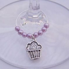 Cupcake Wine Glass Charm - Beaded Style....I want, want, WANT!