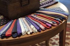 Dandy handkerchiefs at SHRINE Haberdashers in Chicago. Chuck Bass would be proud.