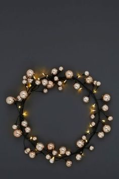 Buy Lit Copper Effect Bauble Garland from the Next UK online shop