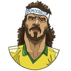 Socrates, by Dan Leydon Socrates, Football Art, Football Players, Samba, Everton Fc, Popular Sports, Caricatures, Real Madrid, Illustrator