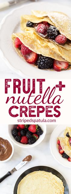 [sponsored] Crepes Recipe | Crepes Easy | Nutella | Nutella Recipes | Dessert Recipes | Berry Recipes