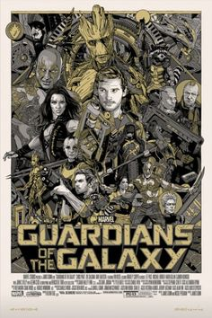 "Affiche originale Marvel Studios/Not Mondo ""guardians-of-the-galaxy"" par Tyler Stout (08/01/14) numérotée. Taille 24""x36"" Metal print. @asgalerie #asgalerie #TylerStout #marvel #guardiansofthegalaxy #gardiendelagalaxie."
