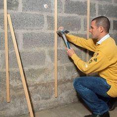 clouer desales verticales en bois
