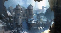 The castle, Mu Yu jiang on ArtStation at https://www.artstation.com/artwork/wP5yw