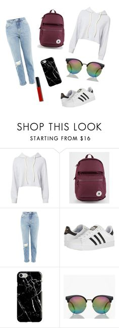 """Untitled #24"" by cara-lou on Polyvore featuring Monrow, Converse, Topshop, adidas, Recover, Boohoo and Bobbi Brown Cosmetics"
