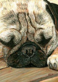 """""""A Pugs Life"""" - Original Fine Art for Sale - © Angela Bishop"""