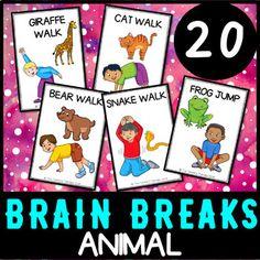 Animal Walks Movement Cards – Brain Breaks, Self-Regulation, Sensory Break - hairstyles. Animal Activities, Sensory Activities, Sensory Tools, List Of All Animals, Self Regulation Strategies, Zones Of Regulation, Animal Movement, Susanoo, Music And Movement