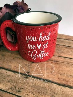 You Had Me At Coffee Campfire Mug by Napcreations on Etsy