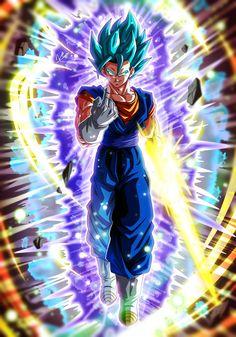 Dragon Ball Z, Dragon Ball Image, Manga Anime, Anime Art, Dbz, Gogeta And Vegito, Ball Drawing, Nerd Art, Sonic Fan Art