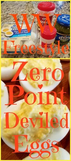These simple and delicious deviled eggs are ZERO POINTS in the new Weight Watchers Freestyle program. The secret is using Kraft Fat Free mayo. Follow me for more zero point recipes.