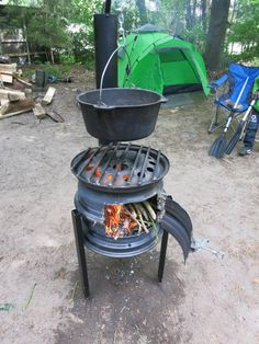 Fire Pit Grill, Diy Fire Pit, Fire Pit Backyard, Bbq Grill, Grilling, Fire Cooking, Outdoor Cooking, Diy Wood Stove, Brick Bbq