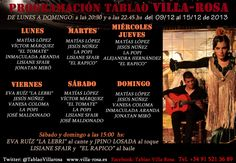 TABLAO VILLA ROSA: FLAMENCO MADRID: FLAMENCO MADRID VILLA-ROSA: PROGRAMACIÓN DEL 15 AL...