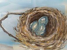 Birds nest painting