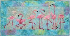 Flamingo quilt, very cute!