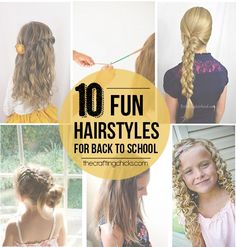 With just 1 daughter I often wonder how my mom managed to keep her 4 daughters hair fixed! I've learned that the number 1 goal when fixing girls hair is to keep it out of her face and the 2nd is to look cute! Here are 10 fun ways to accomplish both of those: Waterfall …