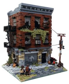 Christophe modeled a discouraging building in shambles and disrepair. The different shades and abscence of elements make for a really cool and realistic build.