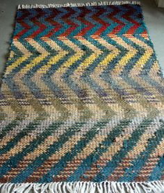 Vintage Woven Rag Rug 4 x 6. $95.00, via Etsy.