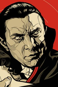 Dracula | MARTIN ANSIN  Limited edition screenprinted poster for the classic 1931 horror film Dracula, starring Bela Lugosi.
