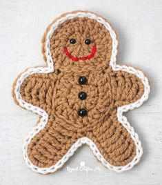 Here is a slightly bigger, updated version to my Crochet Gingerbread Man Cookie Pattern! I figured if I made this guy a little sturdier, he could be used for more decor… like on a wreath, strung as garland, tree ornament, dinner table place holders, etc. Plus, you can add more embellishments (like a bow) to …