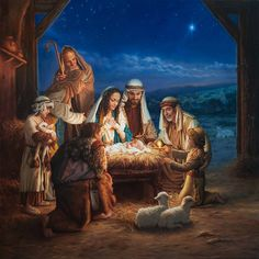 Born of Jesus pictures) - Jézus születése kép) Christmas Jesus, Christmas Nativity Scene, Christmas Art, Christmas Events, Christmas Paintings, Kids Canvas Art, Canvas Wall Art, Share Pictures, Animated Gifs