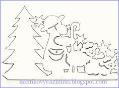 Новогодние и рождественские подвески из бумаги (схемы для вырезания).. Обсуждение на LiveInternet - Российский Сервис Онлайн-Дневников