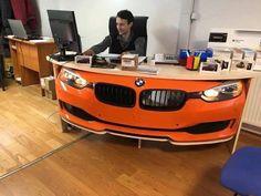Garage Furniture, Car Part Furniture, Automotive Furniture, Automotive Decor, Recycled Furniture, Unique Furniture, Furniture Design, Barber Shop Decor, Car Office