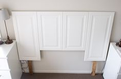 DIY head board -- could get panels at that place downtown.