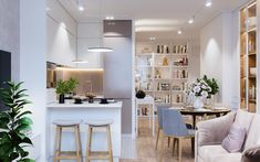 Lighting Makes the Room - Hither & Thither Beetle Chair, Quirky Kitchen, Lovely Apartments, Interior Design Advice, Interior Inspiration, Room Of One's Own, Sweet Home, Chair And Ottoman, Dining Room Table