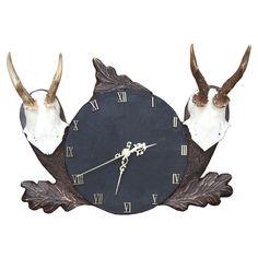 Zegar wykonany w drewnie