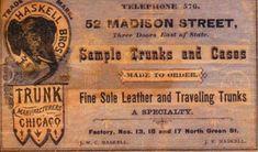 Daniel McLean /& Sons Marker Label steamer trunk chest sticker decal interior