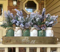 mason jar christmas centerpiece christmas planter box