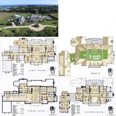House Plans Mansion, New House Plans, Dream House Plans, House Floor Plans, Luxury Floor Plans, Luxury House Plans, Casas The Sims 4, House With Porch, Mansions Homes