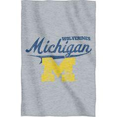 Northwest Michigan Wolverines Sweatshirt Blanket, Blue