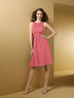 coral dress from Alfred Angelo