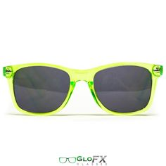 GloFX Diffraction Glasses – Transparent Green Tinted