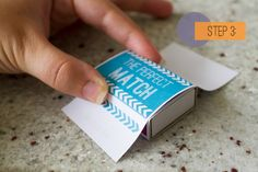 Wedding DIY: Match Box Favors with a Free Download