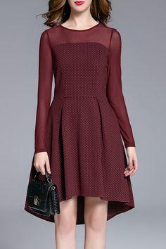DAY -  Polka Dot Asymmetric Dress