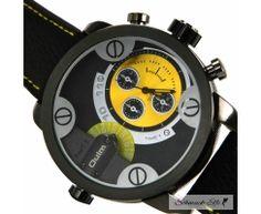 Armbanduhr BIG STYLE PU Leder schwarz