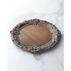 Horchow Baroque Wooden Charger Plate ($68) found on Polyvore