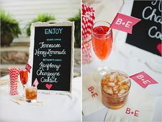 Drink Up:: Wedding Drink Trends of 2013:  His and Her's Drinks with Bar Menu